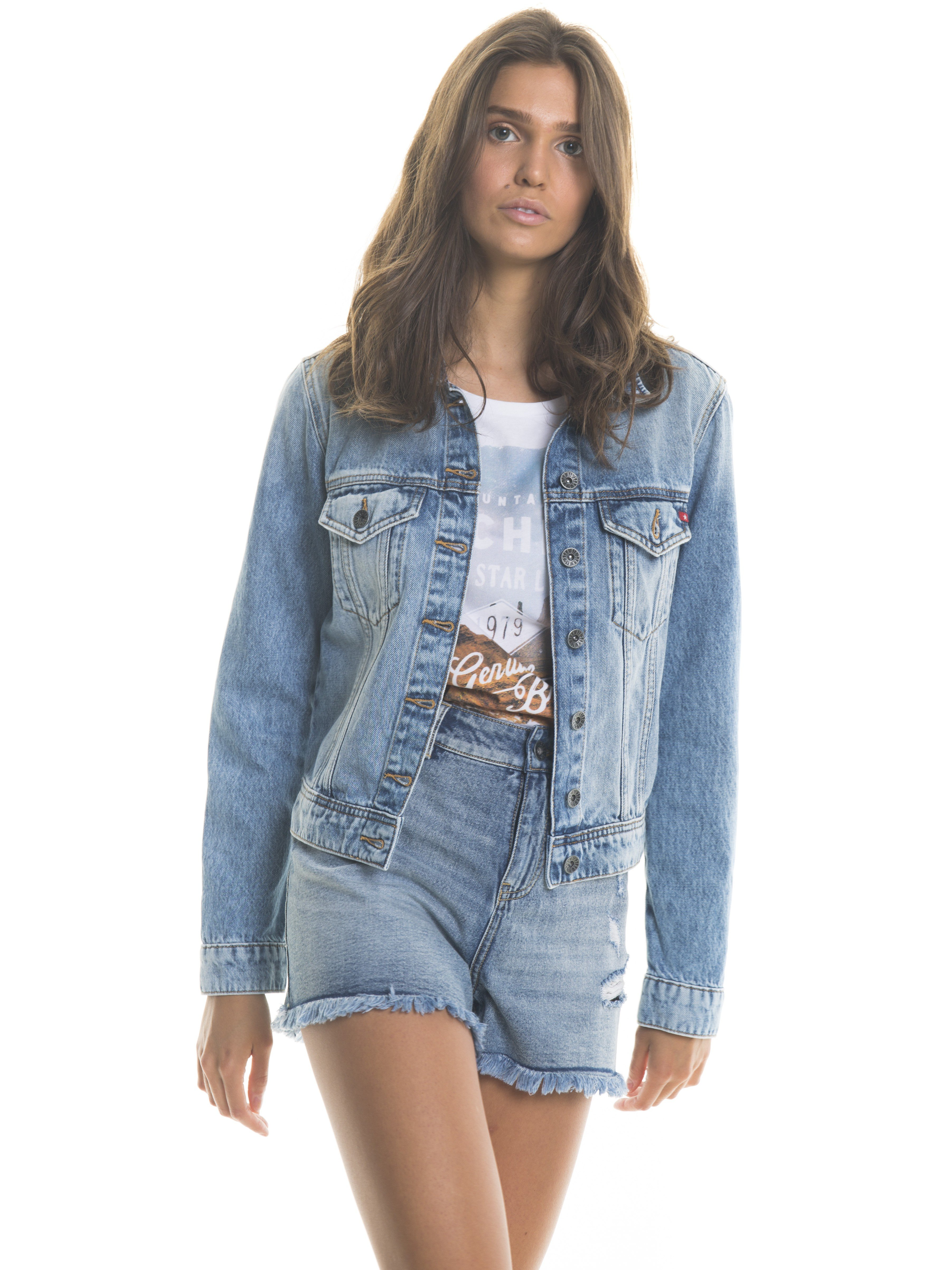Kurtki jeansowe damskie big star Kurtki damskie jeansowe