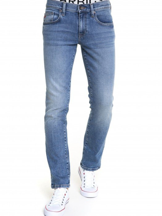 Dopasowane jeansy męskie slim ciemne niski stan 279,99 zł