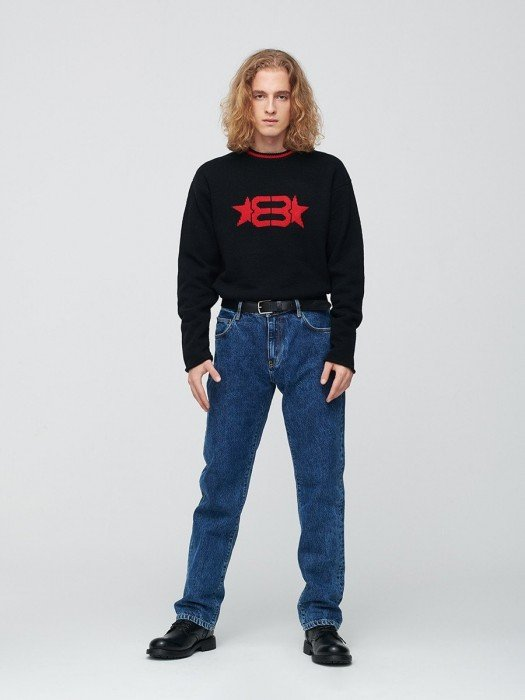 Straight jeans jeansy męskie z prostą nogawką